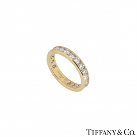 Tiffany & Co. Yellow Gold Full Diamond Eternity Ring